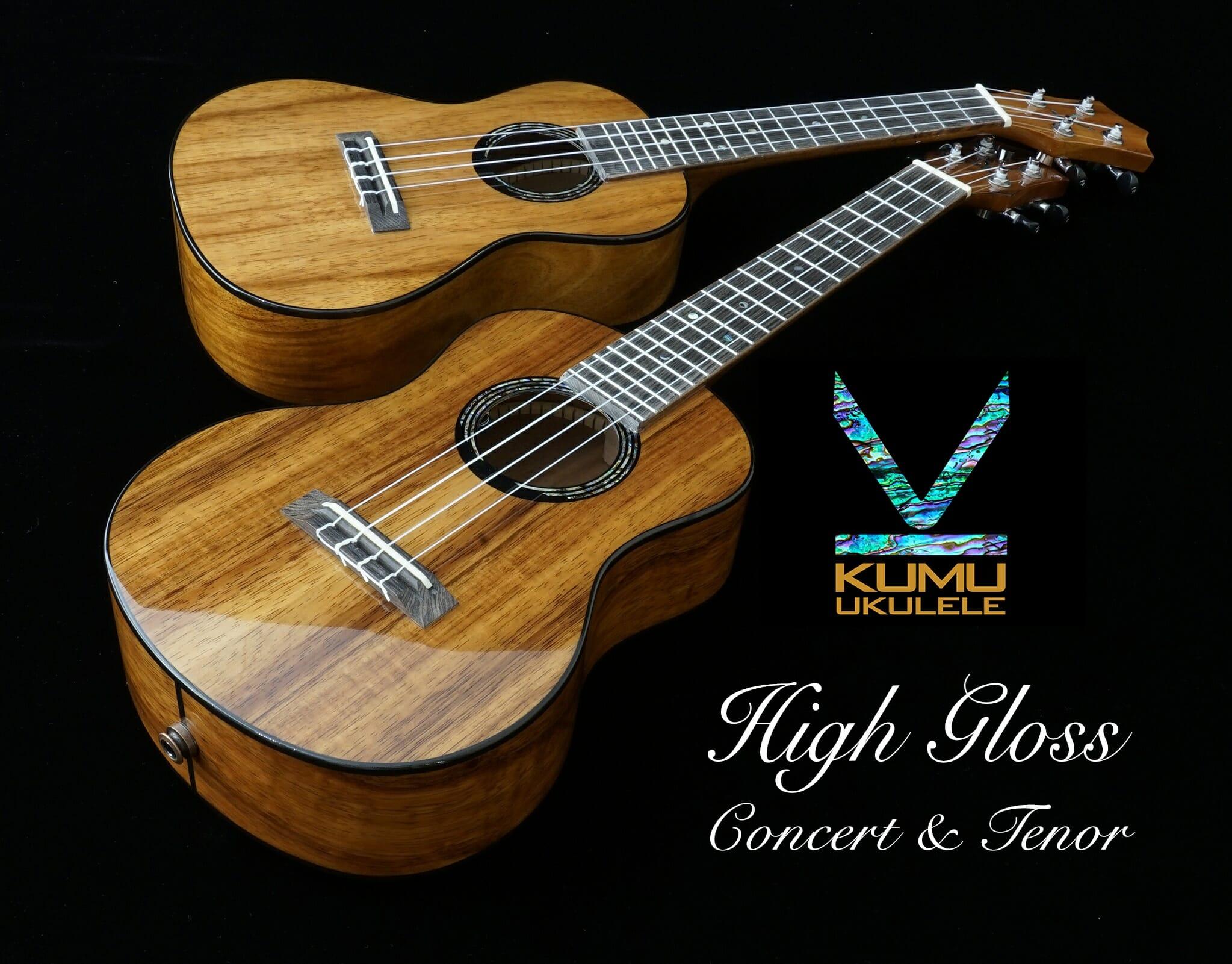 KUMU Ukuleleハイグロス仕様モデルが限定発売!